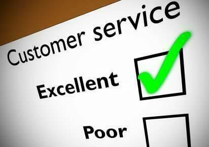 excellent customer service feedback