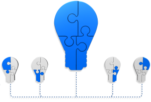 Management System Integration into light bulb graphic